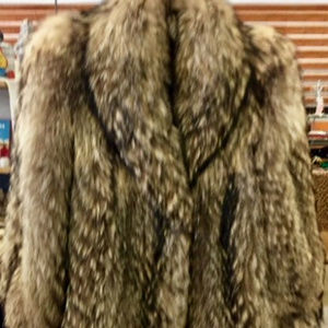Runway FABULOUS Silver-Tipped Fox Fur Jacket